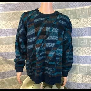 Jantzen  - Colorful Men's Pullover Sweater 2X Big